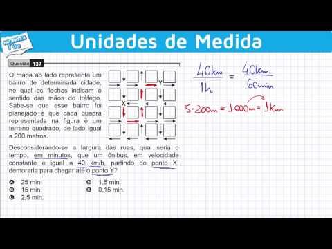 ENEM 2009 Matemática #2 - Orientação Espacial, Velocidade e Unidades de Medida de Tempo