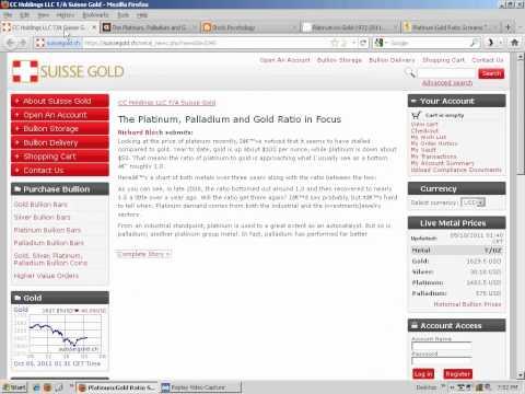 Palladium & Platinum-Gold ratio