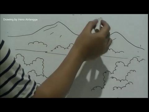 Cara Mudah Menggambar Ilustrasi Pemandangan Untuk Anak Youtube