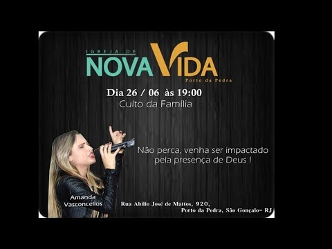 Amanda Vasconcellos louvando na Nova Vida do Porto da Pedra - SG (Trecho)