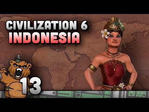 Civilization 6 | Indonesia #13 - Gameplay Português PT-BR