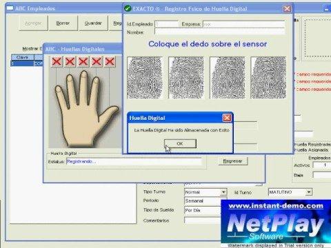 DigitalPersona U are U 4000 - Validacion de Huella