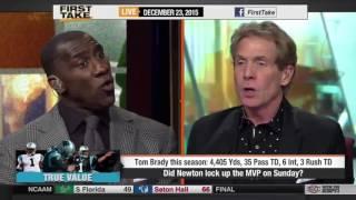Who Is the NFL MVP: Tom Brady or Cam Newton? - ESPN First Take