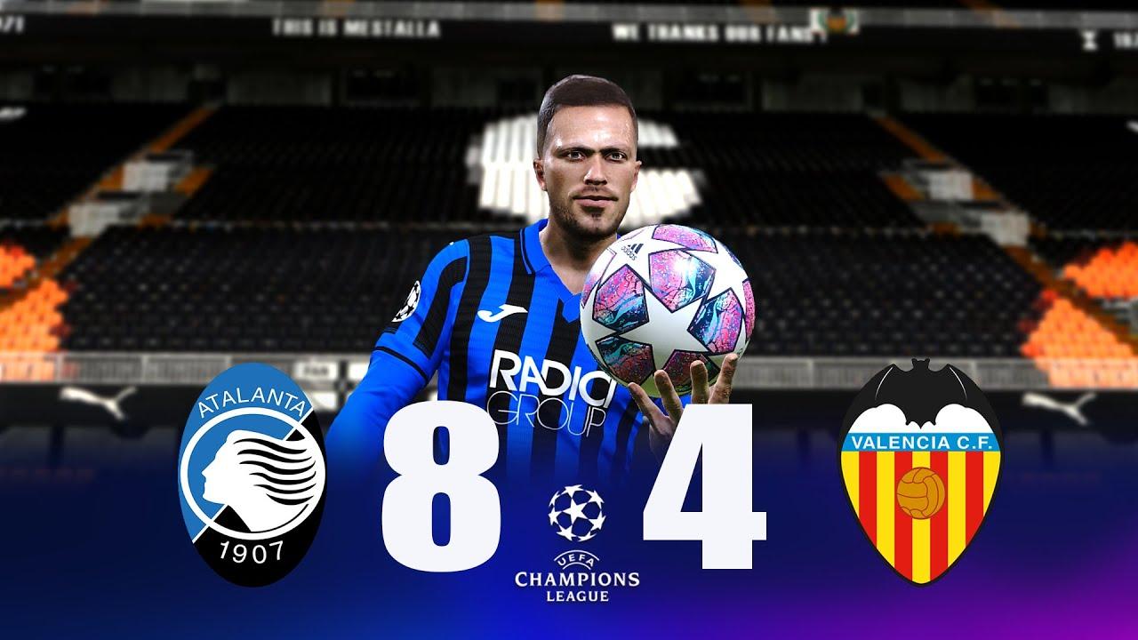 Recreación Atalanta 8-4 Valencia - Uefa Champions League ...