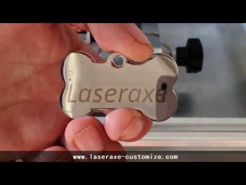 Metal Engraving by Laseraxe 450nm 7000mW 7W DIY Desktop Mini Laser Engraver Engraving Machine PWM