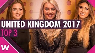 """""""Eurovision: You Decide 2017"""" - Our Top 3 favourites for the United Kingdom"""