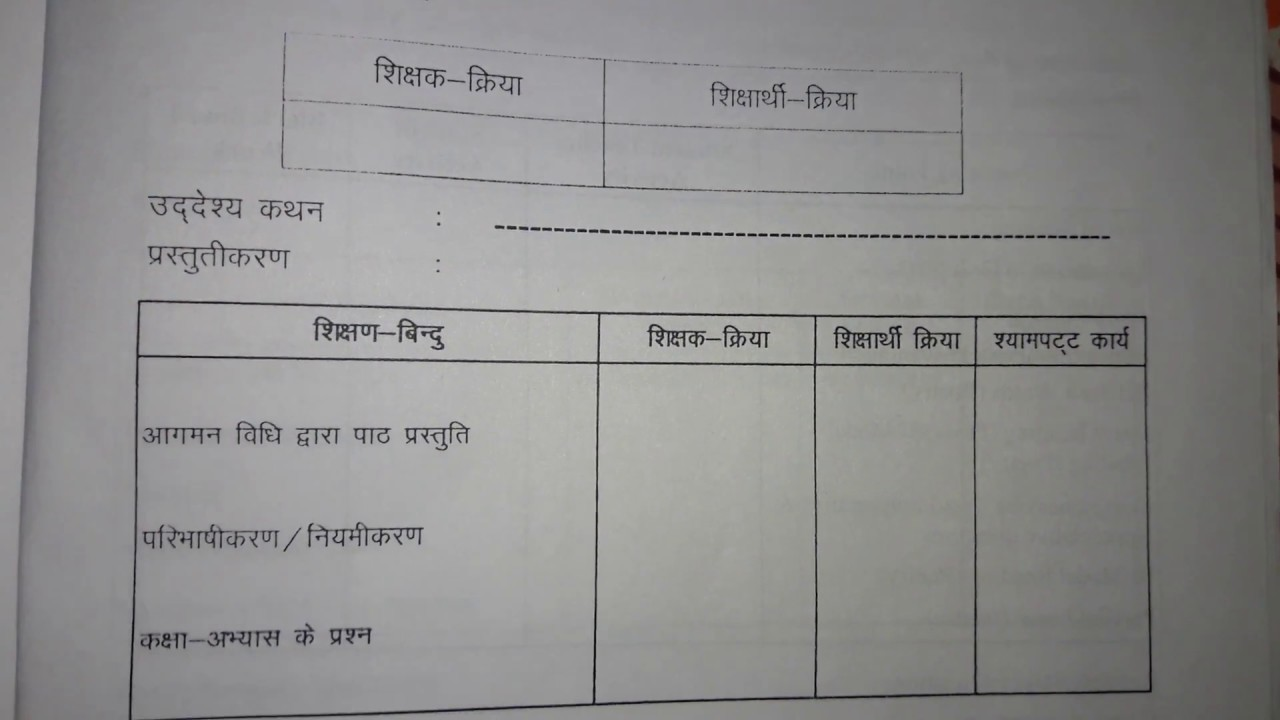B Ed lesson plan format of sanskrit   YouTube B Ed lesson plan format of sanskrit  Star Academy