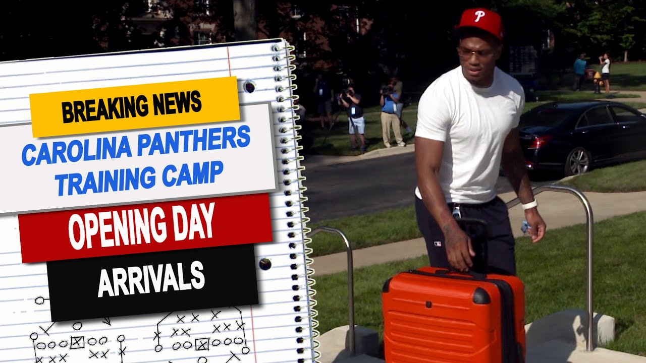 Carolina Panthers report to training camp in style