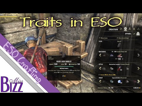 Traits in ESO - Elder Scrolls Online Traits - Armor and Weapon Traits - ESO Traits