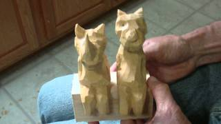 Whittling Animal Shelf Sitters  ( Conclusion)