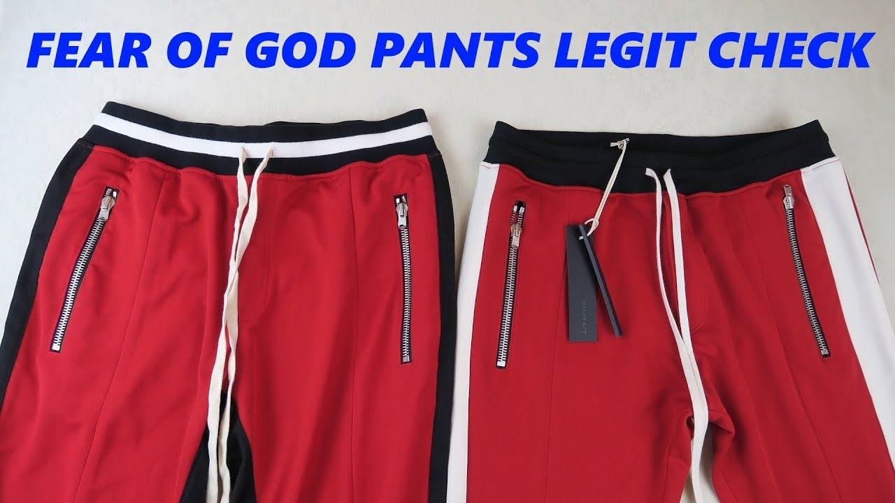 e01b6ca1008 HOW TO SPOT FAKE FEAR OF GOD Track Pants | Real vs Replica Fear of God  Legit Check