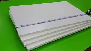 洗面所 ダボレール用の棚 白い化粧板の特注サイズ製作可 thumbnail