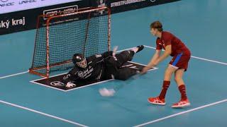 Penalty Shootout Czechia Vs Sweden Semi-finals - U19 World Floorball Championships
