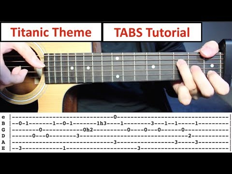 Mix - Titanic (My Heart Will Go On) | Fingerstyle Guitar Lesson with TABS on Screen