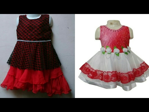 fd3f07df35 Umbrella cut designer baby frock cutting and stitching easy tutorial ...