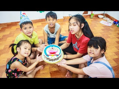 Kids Go To School | Day Birthday Of Chuns Children Make a Birthday Cake Doremon