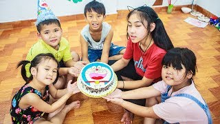 Kids Go To School | Day Birthday Of Chuns Children Make a Birthday Cake Doremon