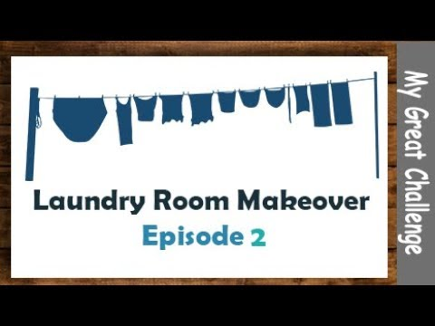 Laundry Room Makeover || Part 2 || Less Ugly with Paint!