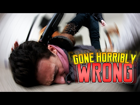 24 HOUR CHALLENGE IN A STRANGERS HOUSE (ALMOST GOT SHOT)