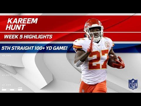 Kareem Hunt's 5th Straight 100+ Yard Game! 💯 | Chiefs vs. Texans | Wk 5 Player Highlights