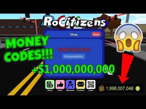 Roblox rocitizens all money codes!!! 2017 working : Vidbb ...