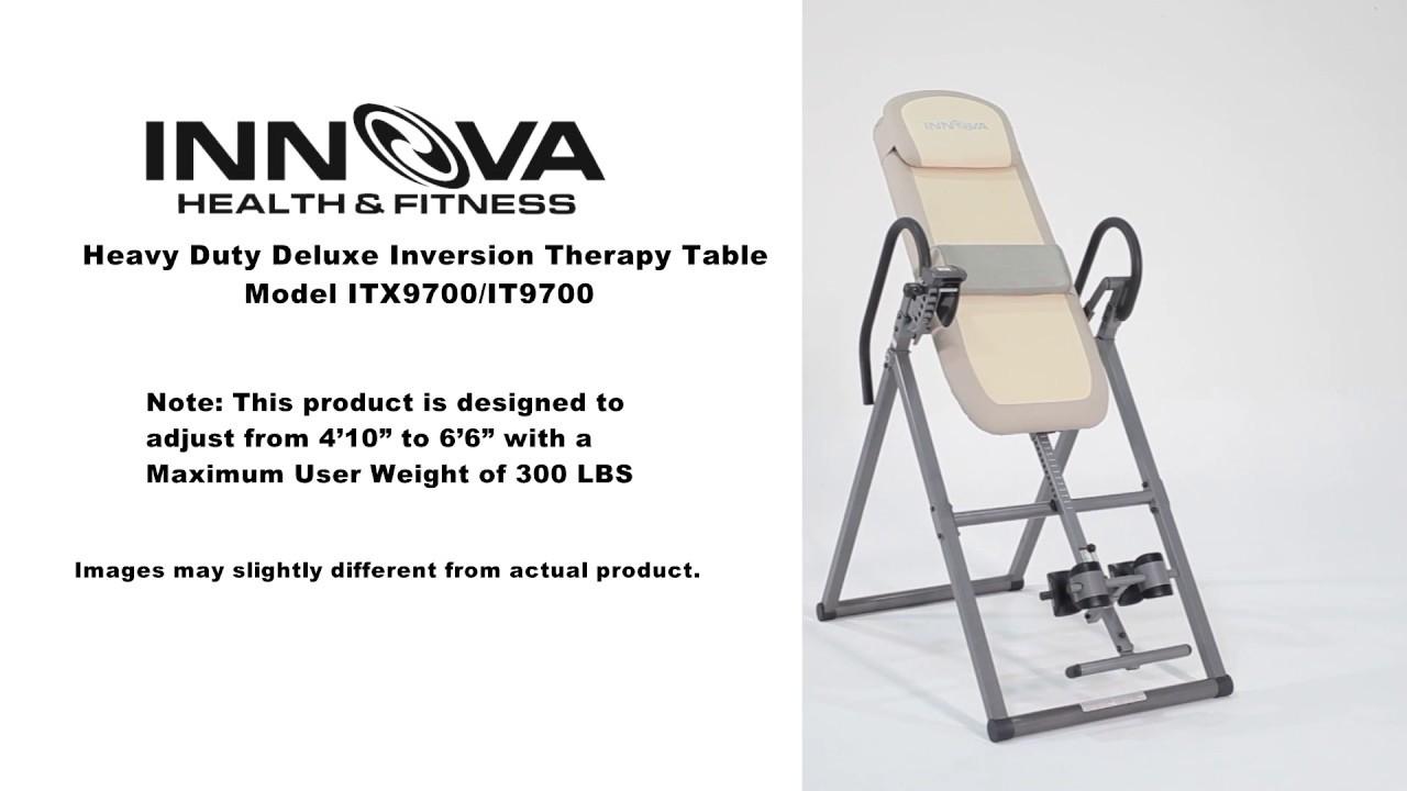 Innova Fitness ITX9700 Inversion Table Installation Guide