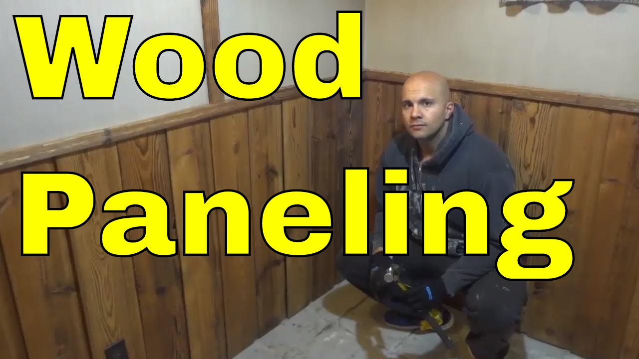 Diy Removing Wood Paneling Youtube
