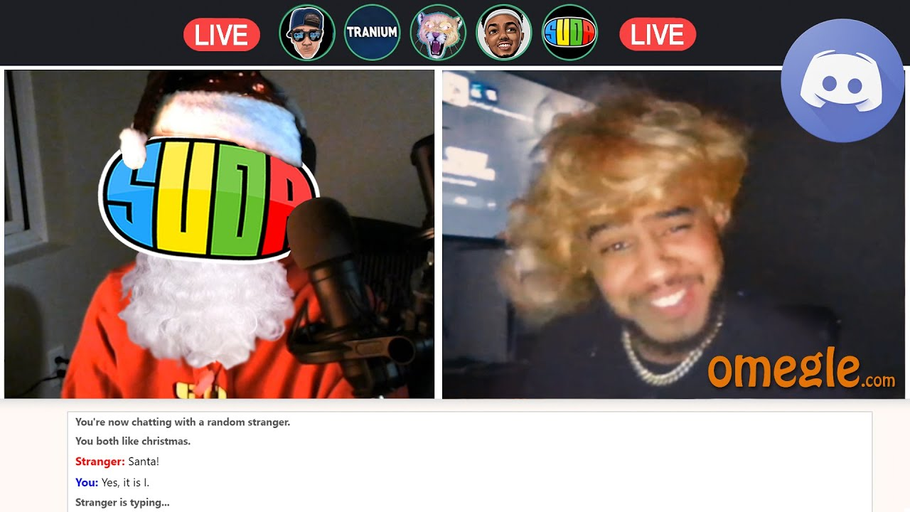 We went on Omegle while in Discord.. CHRISTMAS EDITION!