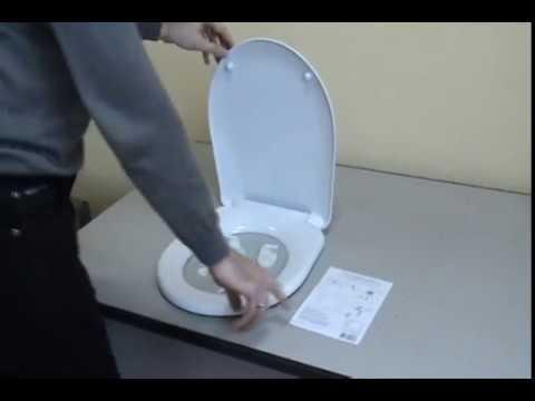Видеоинструкция установки сидений унитаза УКЛАД