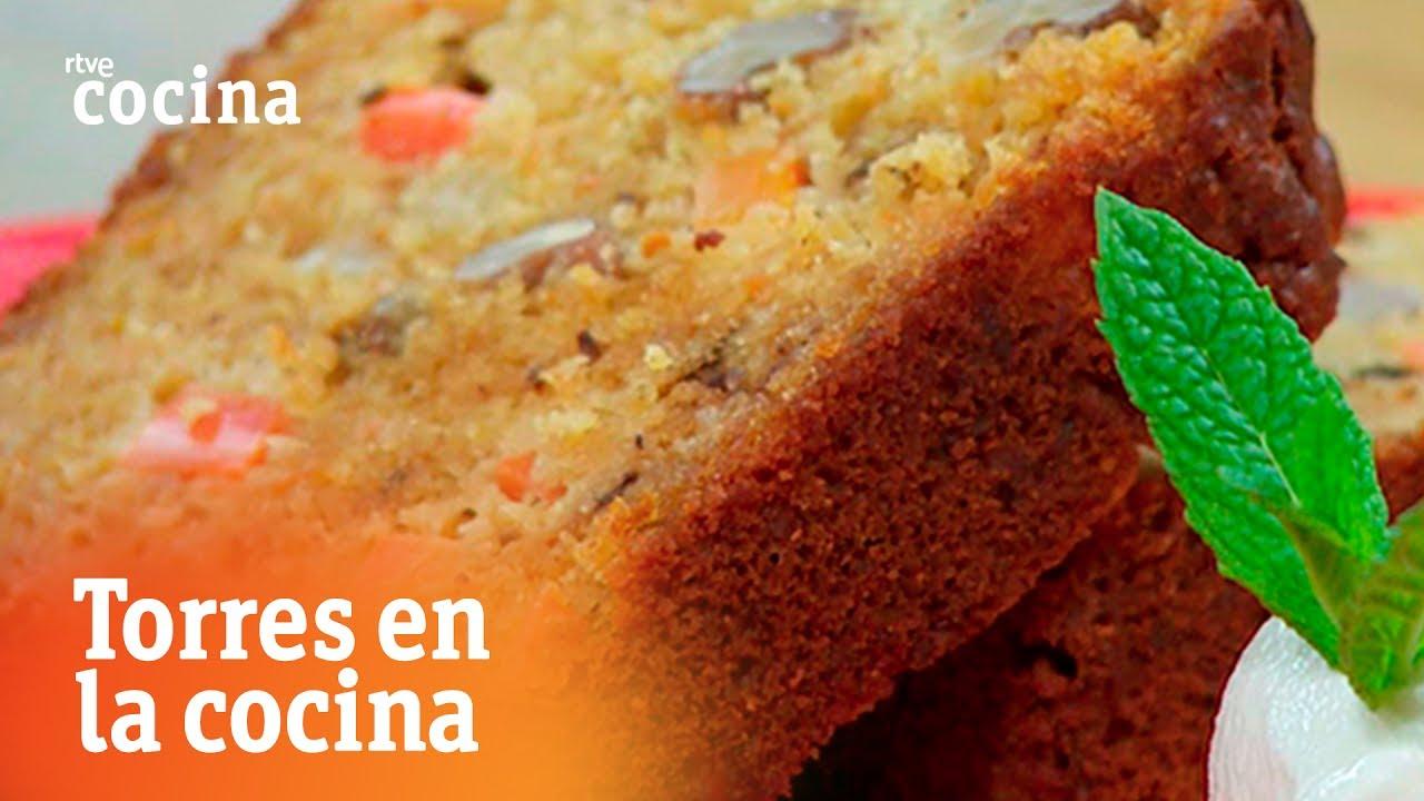 Bizcocho de zanahoria coco y nueces torres en la cocina for Torres en la cocina youtube