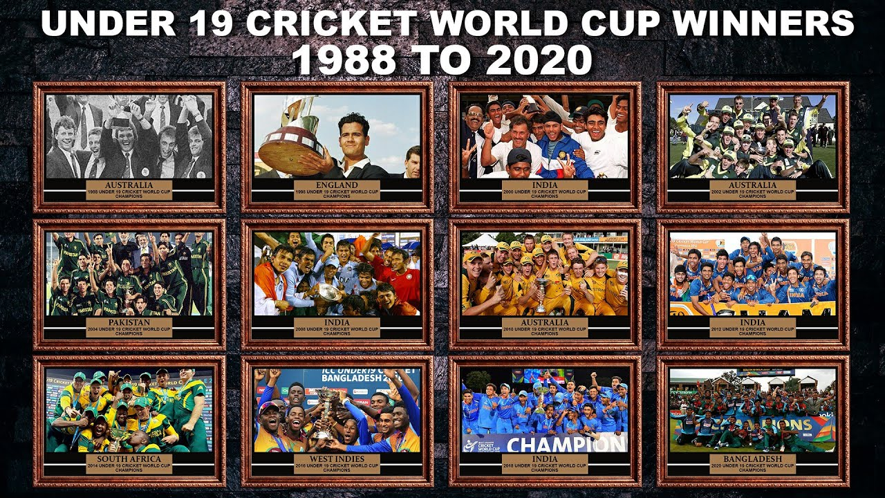 Under 19 World Cup Winners List From 1988 To 2020 Youtube