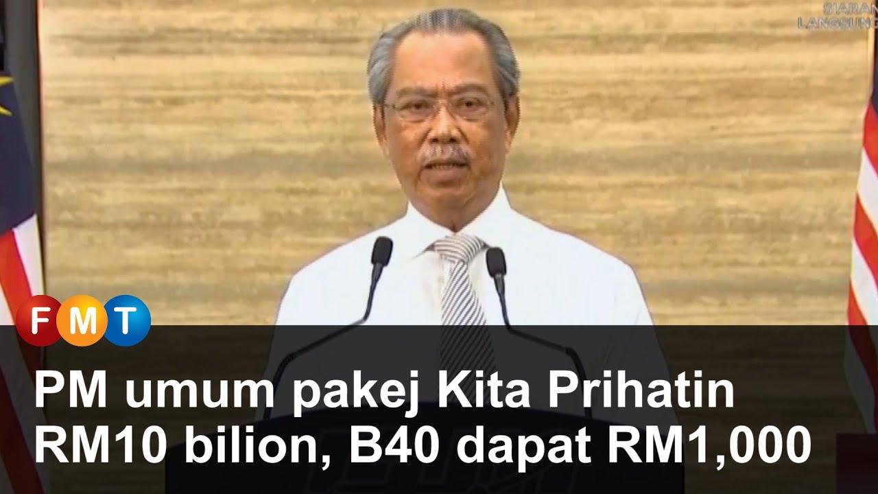 PM umum pakej Kita Prihatin RM10 bilion, B40 dapat RM1,000