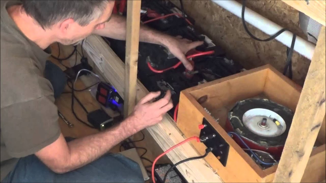 Tiny House Solar Power And Desulfating Batteries With Bedini Motor