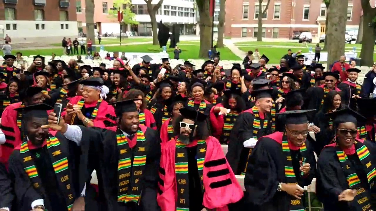95d024076f First Ever Black Graduation at Harvard 2017. - YouTube