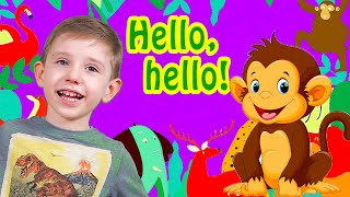 Hello Hello Song For Kids with Animals Nursery Rhymes and Kids Songs for Children and Babies