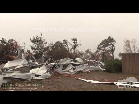 10-10-18 Tyndall AFB, FL - Stadium Effect Eye with blue skies in Hurricane Michael.mp4