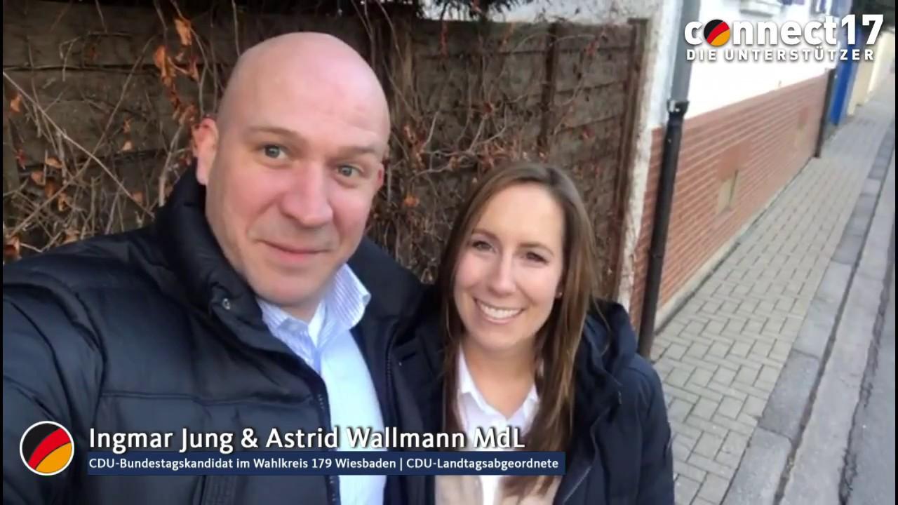 Tür zu tür  Mit Ingmar Jung und Astrid Wallmann im Tür-zu-Tür-Wahlkampf! - YouTube