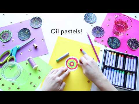 Oil Pastel For Kids - DIY Fireworks Scratch Paper
