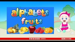 Learn Fruits in Alphabets | Fruits from A to Z | Dankids | fruits names