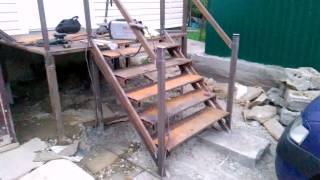 видео Лестница для крыльца из металла