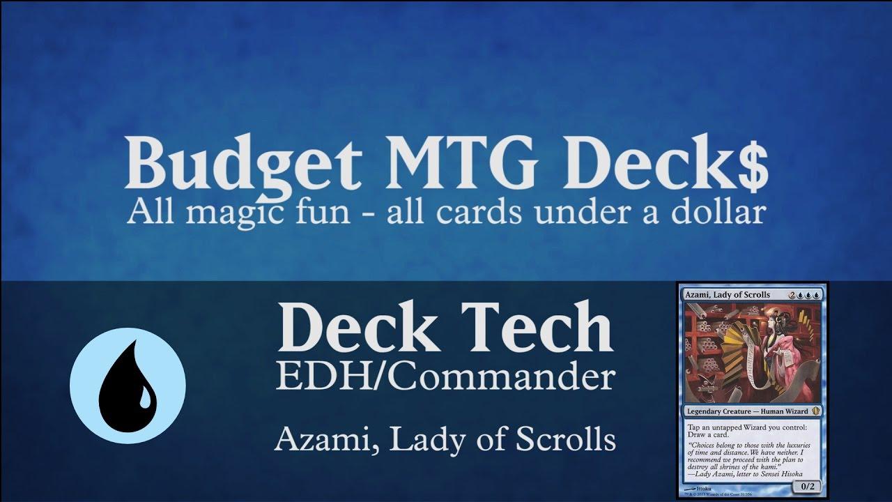 budget azami lady of scrolls edh commander wizard tribal