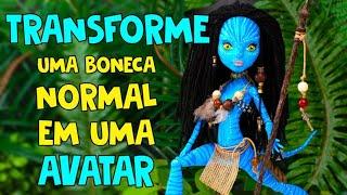 Nunca se é velho demais para as bonecas! Transforme uma boneca Monster High em Neytiri 🦋