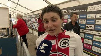 Elise Chabbey - interview d'arrivée - mixed relay TTT - Yorkshire WCh 2019