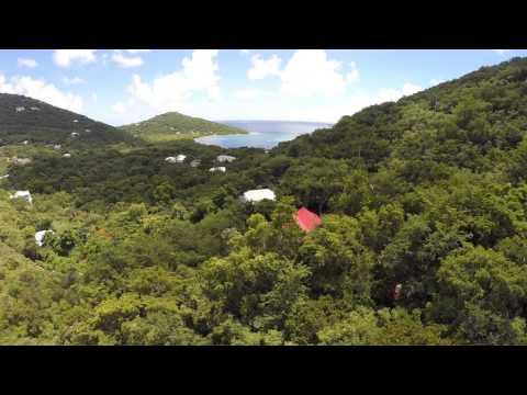 Ocean View Villa in St. John USVI Aerial