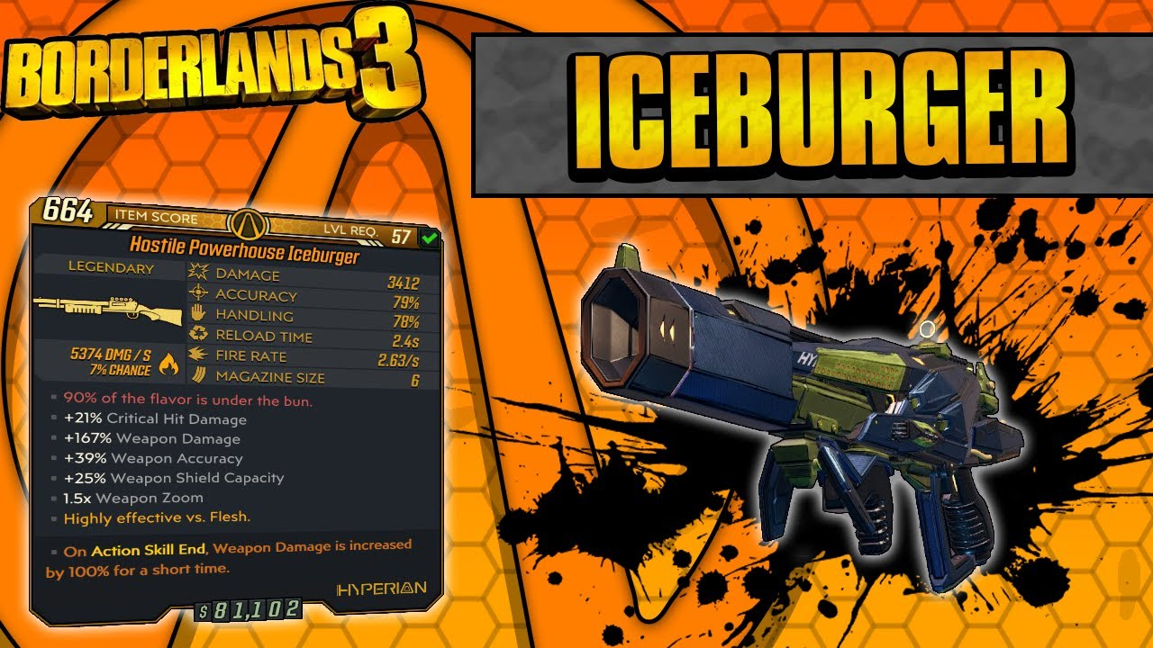 Borderlands 3 | Iceburger Legendary Weapon Guide (Laser Burgers!) thumbnail