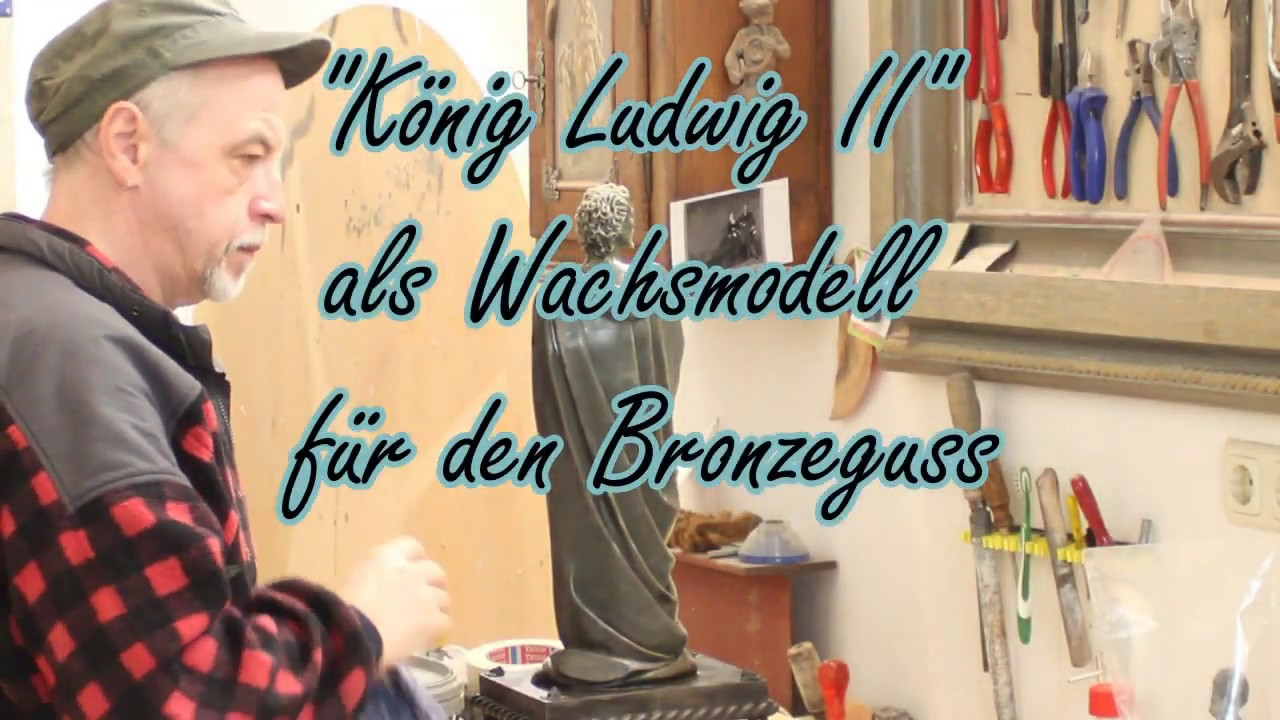 "Wachsmodell ""König Ludwig II""."