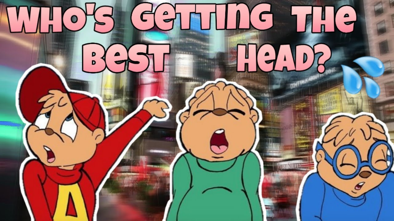 Which chipmunk is getting the best head? - YouTube