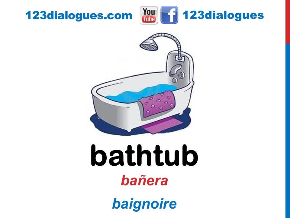 Accesorios De Baño Infantiles:Curso de inglés 43 – Accesorios en el baño en inglés Partes de la