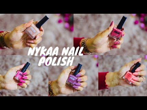 Nykaa Nail Polish Swatches   Nykaa Haul   My Top 5 Nail Polishes by Nykaa