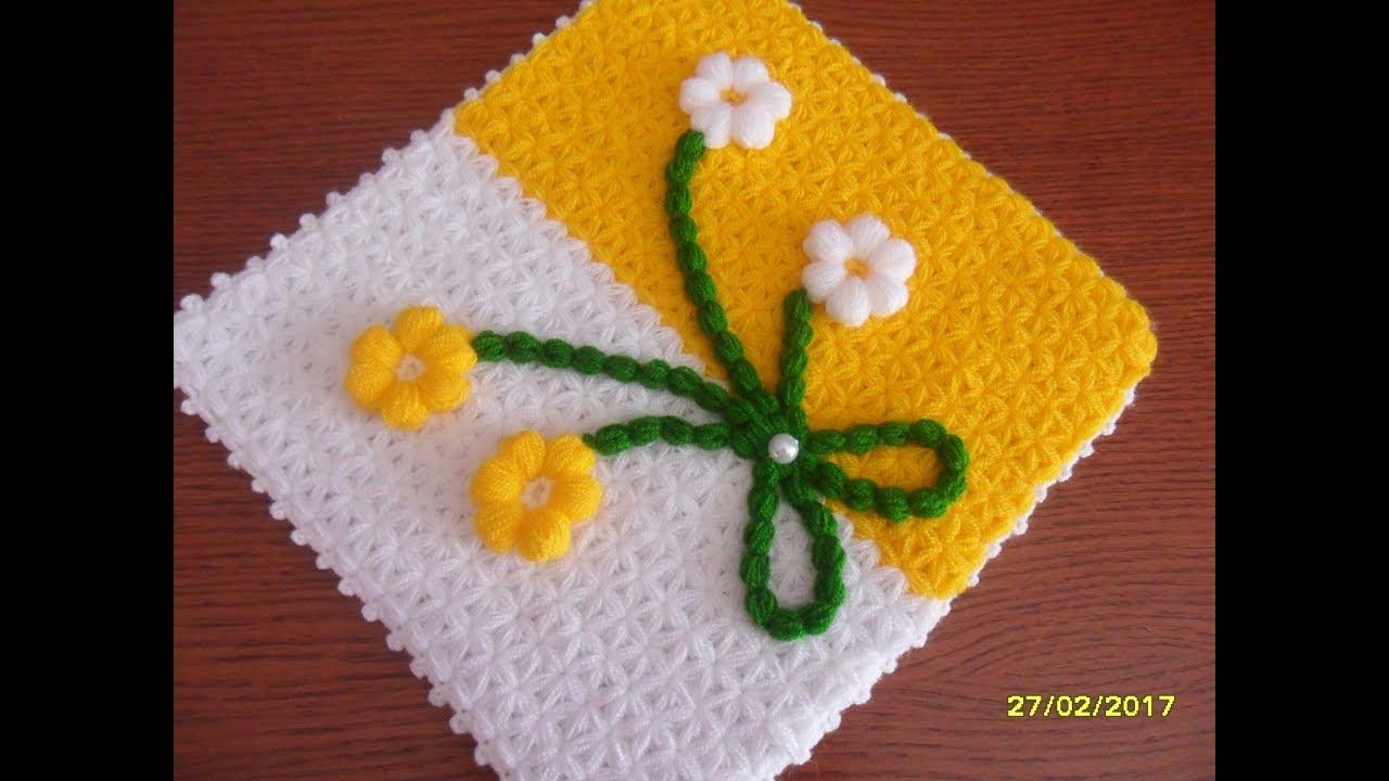 Çiçekli Kare Lif Yapımı